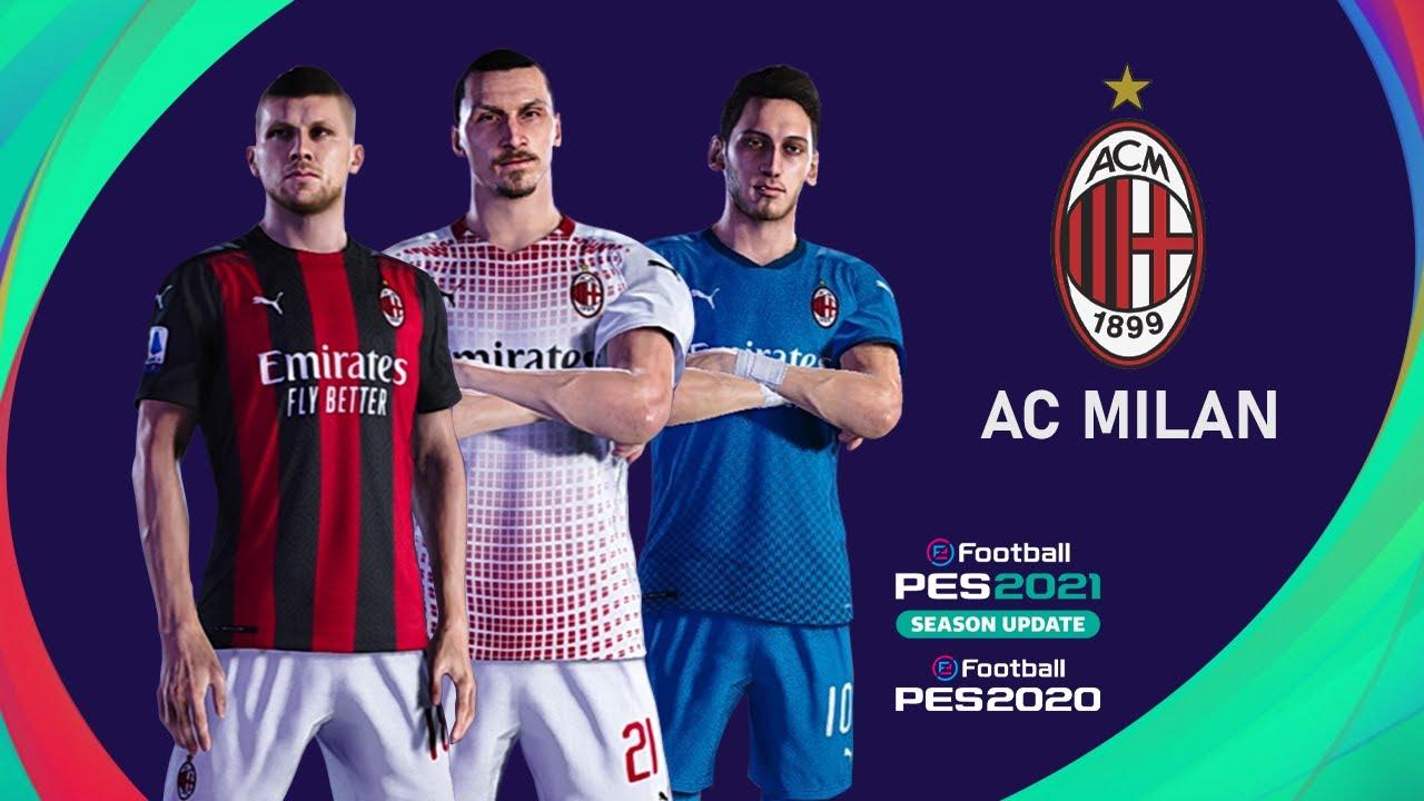 Ac Milan Kit 20 21 Pes2020 Pes2021 Pc Ps4 Youtube