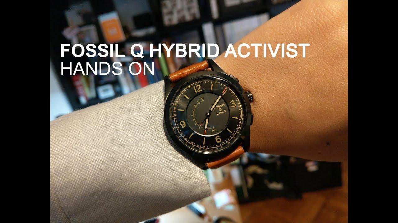 Fossil Q Hybrid Activist im Hands On: Die einfache intelligente Uhr
