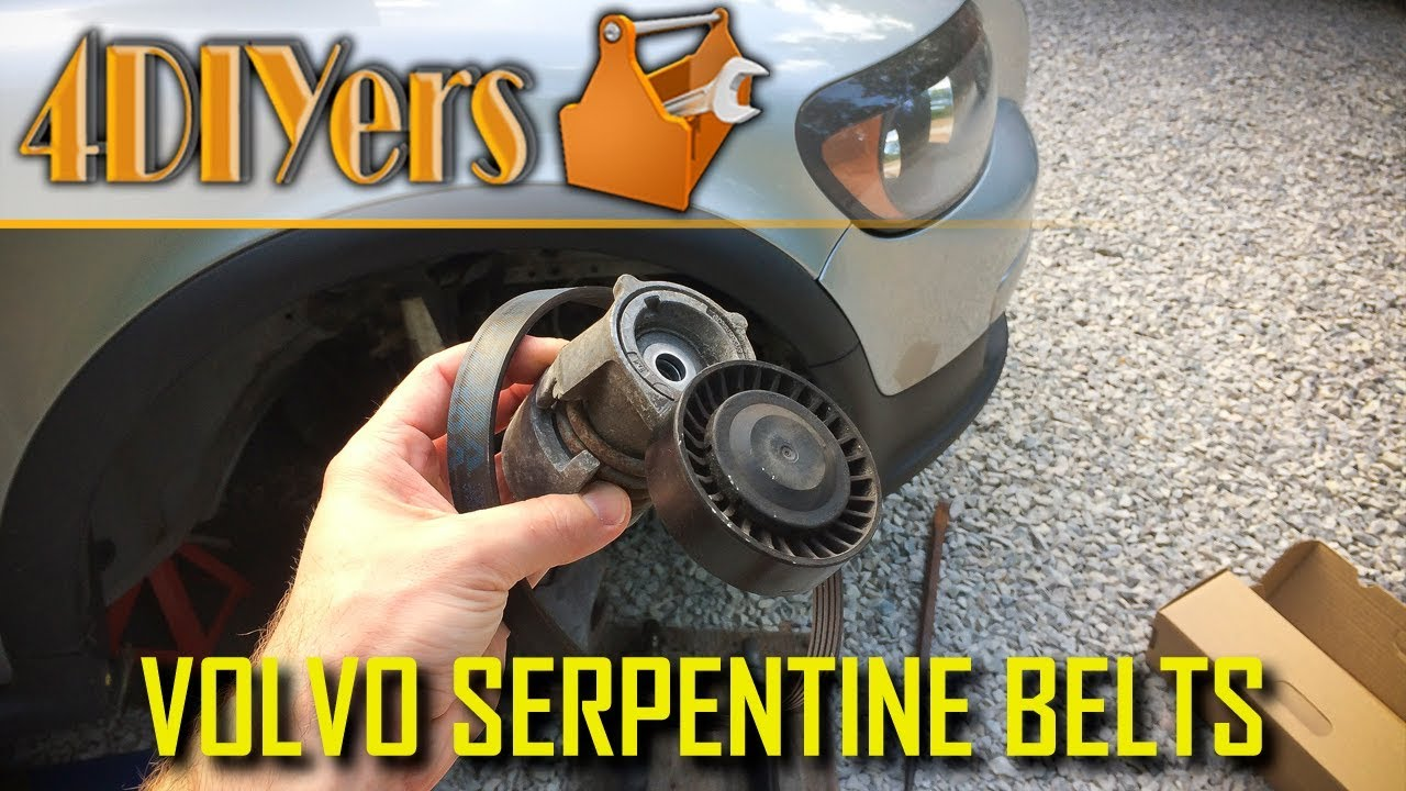 hight resolution of diy volvo c30 s40 v50 c70 t5 serpentine belt tensioner replacement