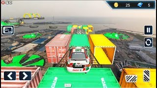 Impossible Drive Tracks Car Racing - Industrial - 3D Super Car Driving Simulation - Androig Gameplay