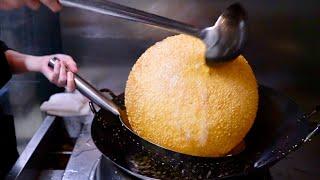 Amazing Japanese street food   GIANT SESAME RICE DUMPLING BALL Japanese sweets