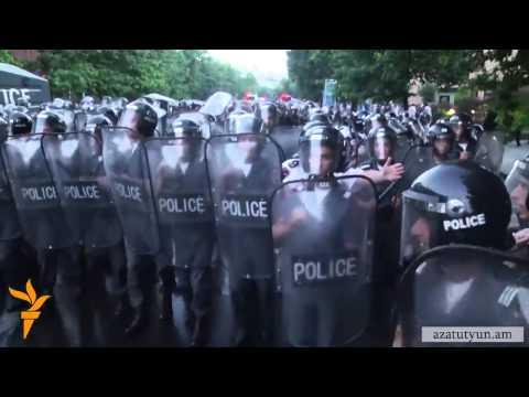 Разгон акции протеста в Ереване