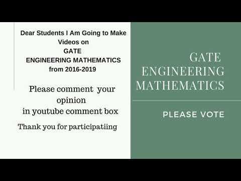 GATE Engineering Mathematics Opinion Pole