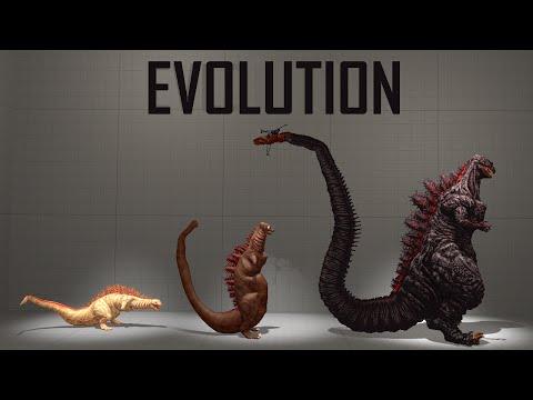 Evolution And Size Comparison Of Shin Godzilla (2016) [SFM]
