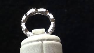 1.70CT Diamond Infinity Eternity Ring 14K White Gold