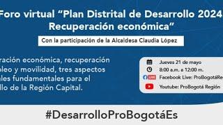 Foro virtual: Plan Distrital de Desarrollo 2020 - 2024: Recuperación económica