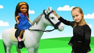 Челси на ферме. Видео для девочек с Барби. Идеи для кукол - Мультики для девочек