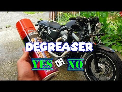 HOW TO : clean a motorcycle using DEGREASER. - Harley Davidson 48 Sportster .. by BOMBER