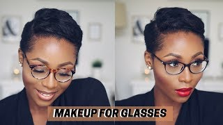 EVERYDAY MAKEUP FOR GLASSES | FULL FACE MAKEUP TUTORIAL