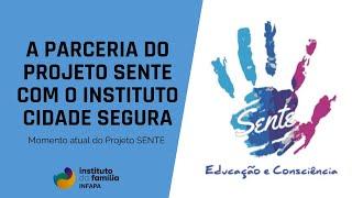 A parceria do Projeto SENTE com o Instituto Cidade Segura: momento atual do Projeto SENTE