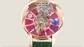 The Jacob \u0026 Co. Astronomia Tourbillon Baguette Rose Gold Ruby