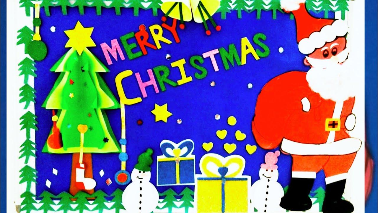 Christmas School Bulletin Board Decoration Idea Display Youtube