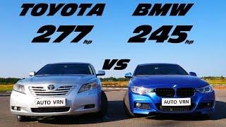 Немецкий ТУРБО или Японский АТМО ?! CAMRY 3.5 vs BMW 328i F30 . ГОНКА.