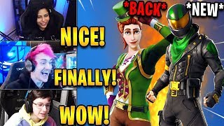 Streamers React to *RARE* Green Clover Skin BACK & *NEW* Lucky Rider Skin! | Fortnite Highlights