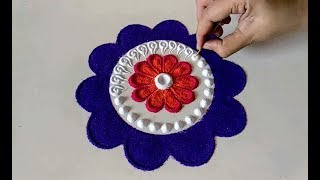 Easy and small rangoli for daily purpose