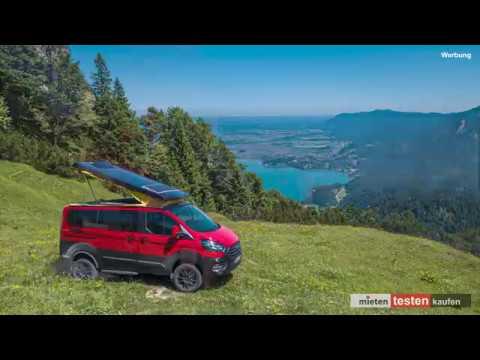 Ford Custom Nugget Red & Black Mit Allrad Und OpenSky Auf Dem Herzogstand