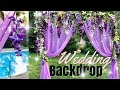 How to Make a Wedding Backdrop | Purple Wisteria Floral Backdrop