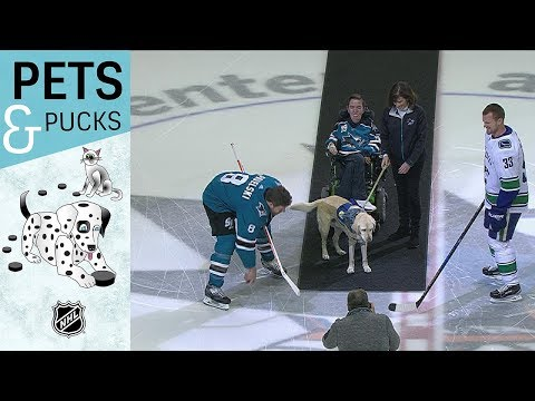 Danny McHale and Lake drop puck in San Jose
