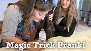 WATER BOTTLE MAGIC TRICK Joke ON DAUGHTER | PHILLIPS FamBam Vlogs