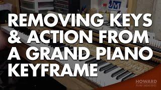 Piano Tuning & Repair - Removing Keys & Action from a Grand Piano Keyframe