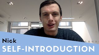 Nick's Self Introduction thumbnail picture.