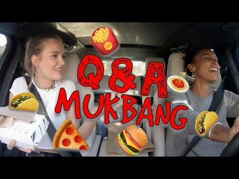 MUKBANG | Q&A | FAST FOOD with MODELS