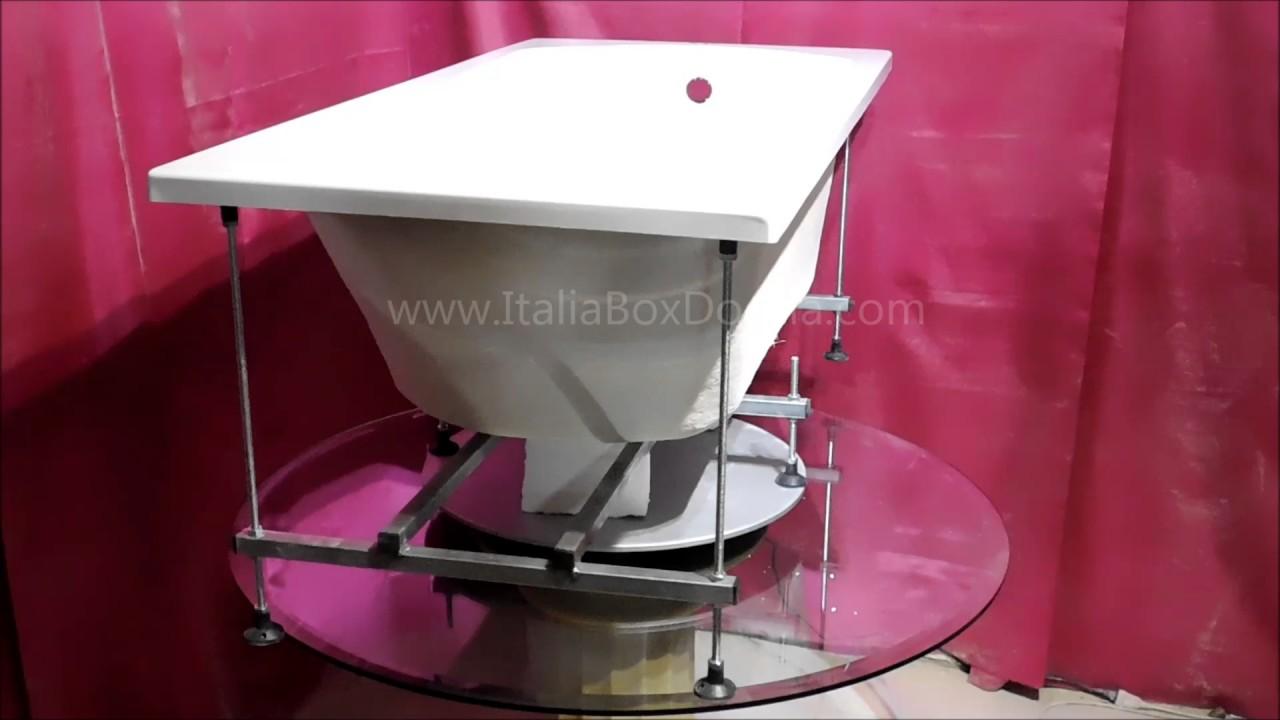 Vasca Da Bagno Con Telaio : Vasca con telaio in vetroresina cm youtube