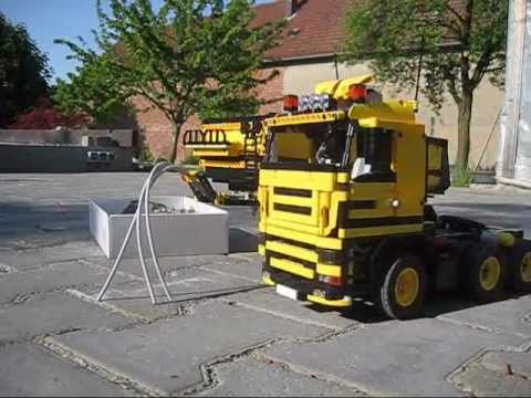 lego technic dump truck 6x4 lkw sattelzug youtube. Black Bedroom Furniture Sets. Home Design Ideas