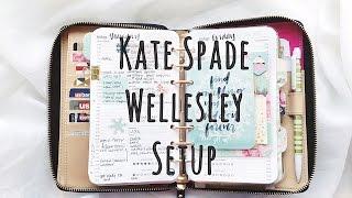 Kate Spade Wellesley Planner Setup Fall 2015