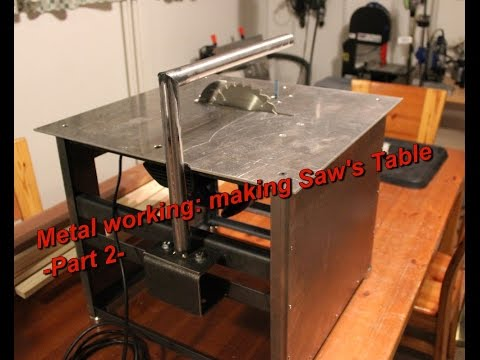 Metal working: Making Saw's Table part -2-