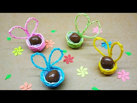 Diy how to make cute paper baskets for Easter