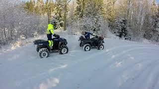 fyrhjuling skoj i snön fail crash
