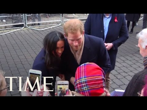 Prince Harry And Meghan Merkle Greet Royal Fans On The Streets Of Nottingham | TIME