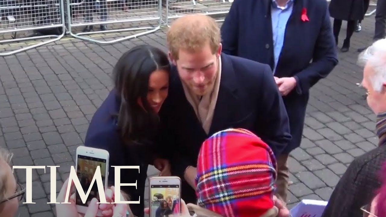 Prince Harry And Meghan Merkle Greet Royal Fans On The Streets Of