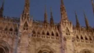 Дуомо вечером, Милан