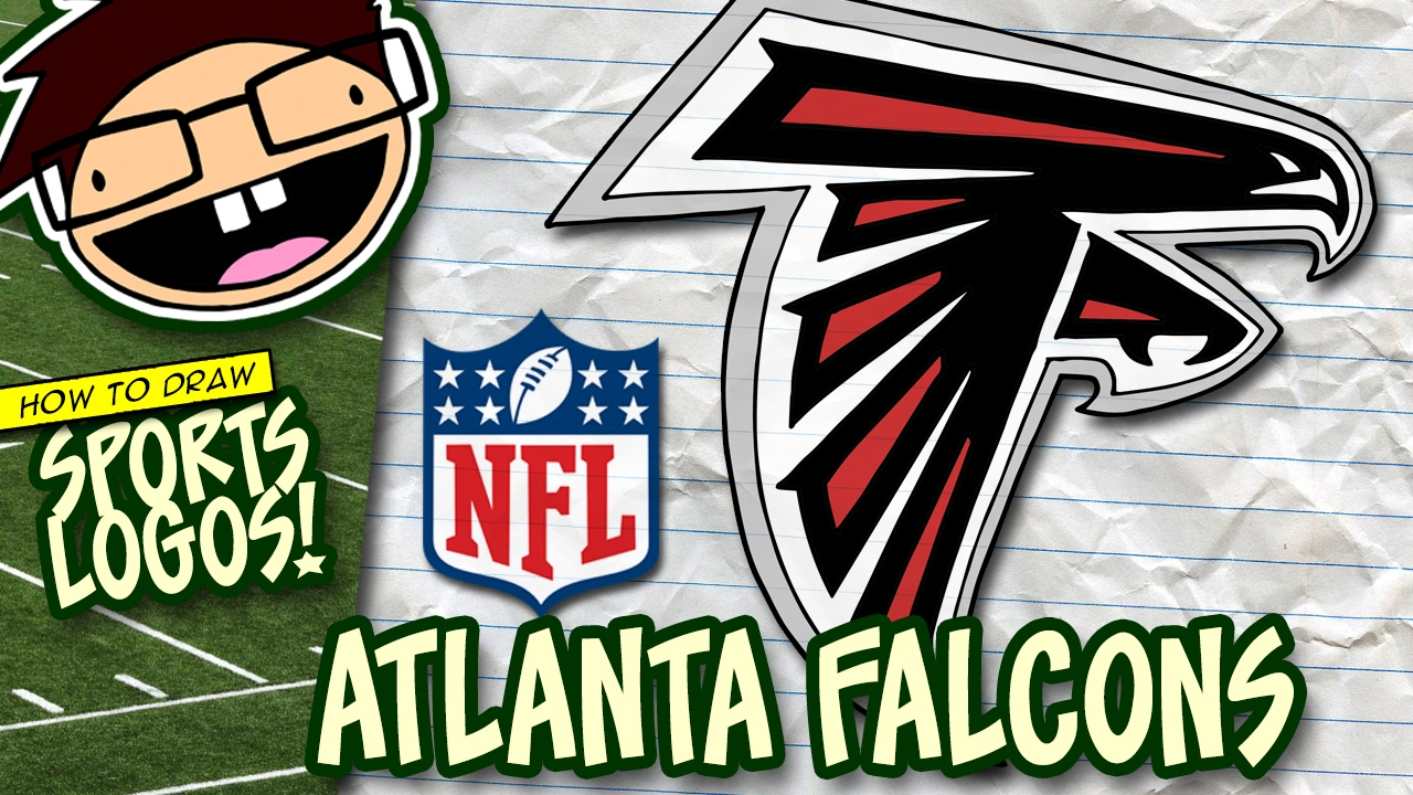 Images Of The Atlanta Falcons Football Logos: How To Draw ATLANTA FALCONS Logo (NFL National Football