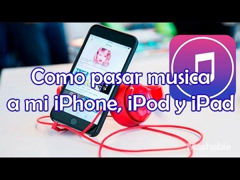 Como pasar musica a mi iPhone, iPad y iPod desde mi PC