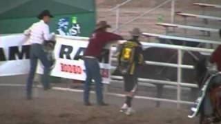 Yuma Silver Spur Rodeo Escaping Fighting Bull!
