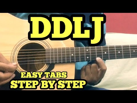 Mix - DDLJ Guitar Tabs/Lead Lesson | SINGLE STRING | Tujhe Dekha To ye Jana Sanam | For Beginners | FuZaiL