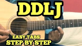 DDLJ Guitar Tabs/Lead Lesson | SINGLE STRING | Tujhe Dekha To ye Jana Sanam | For Beginners | FuZaiL