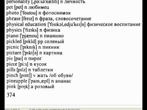 Словарь русский английский перевод