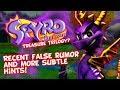 Spyro Treasure Trilogy? - Recent False Rumor - Two Games Complete? Stewart Copeland Not Involved?