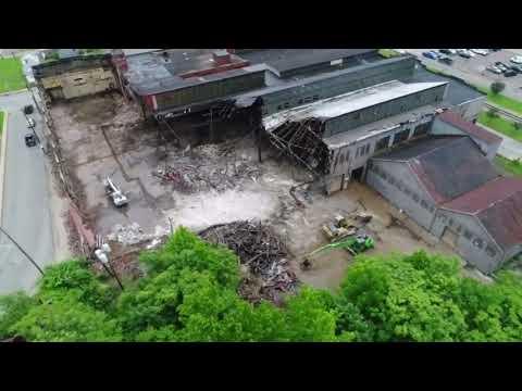 Demolition of former J & L Bldg in New Kensington pt 1
