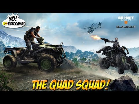 Call of Duty: Blackout! The Quad Squad! - YoVideogames