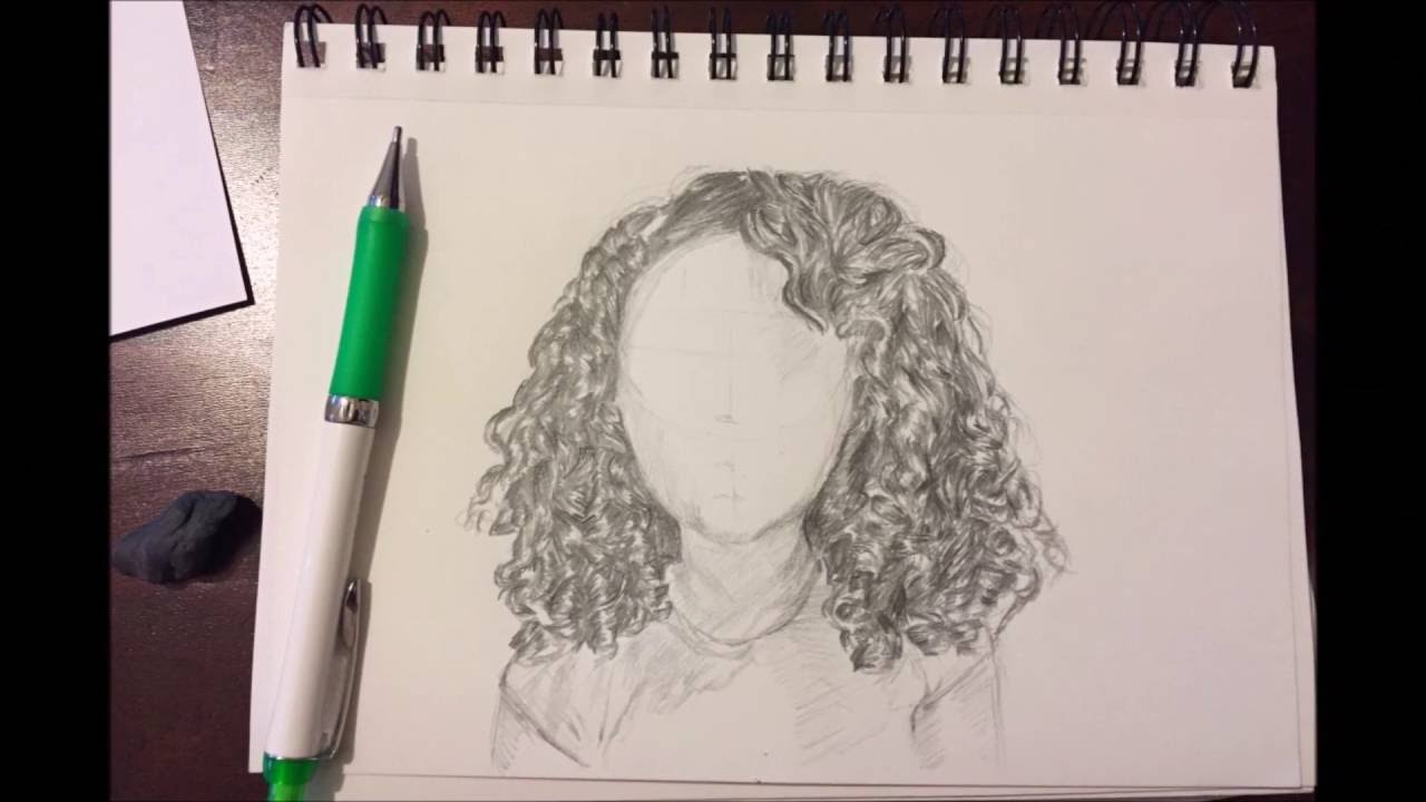 Drawing Curly Hair Youtube