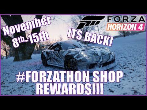 Forza Horizon 4 #FORZATHON SHOP REWARDS November 8th-15th thumbnail