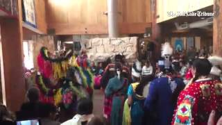 Navajo Dancer entrance Adopt an Elder Pow Wow program @DeerValley