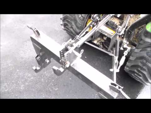 Harbor Freight 3pt 3 point quick hitch adapter on John Deere 1023e