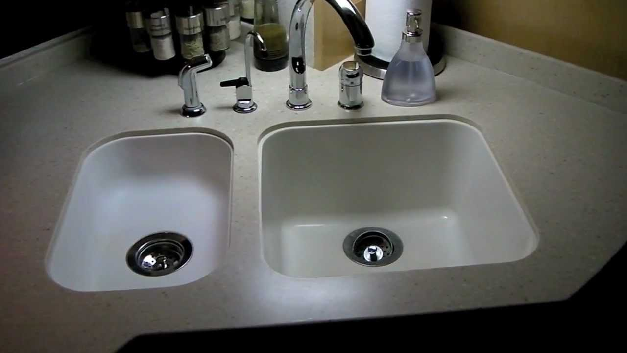 Rv Kitchen Sink Backsplash Photos How To Whiten A Corian In An Youtube