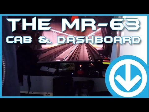 Cab Ride in the Montreal Metro - Mr-63 Dashboard & Tunnel View!